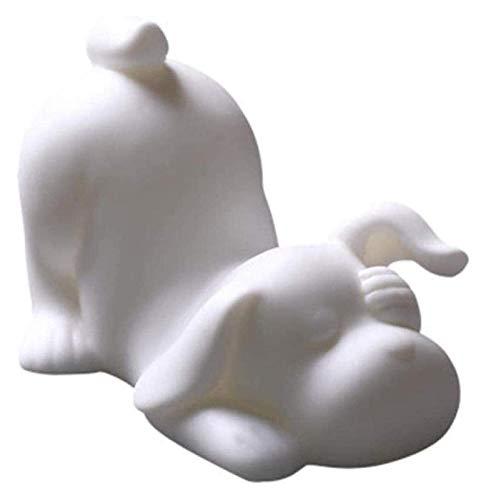 Dekoration Glücklicher Hund Statue Handwerk Geschenk Keramik Persönlichkeit Glücklicher Hund Tier Schmuck Skulptur Schreibtisch Schlafzimmer Wohnzimmer Weinschrank Display Dekorative Figuren