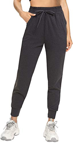 FULLSOFT Sweatpants for Women-Womens Joggers with Pockets Lounge Pants for Yoga Workout Running (Ebony, Small)