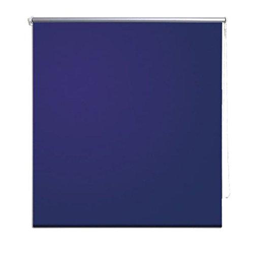 vidaXL Verdunkelungsrollo Seitenzug Klemmrollo Klemmfix Kette 160 x 175 cm blau