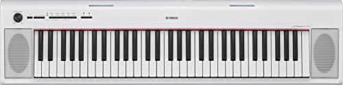 Yamaha Keyboard Piaggero NP-12WH, weiß – Leichtes und transportfreundliches Keyboard – Mit Aufnahmefunktion, Kopfhörer- und Sustain-Pedal Anschluss