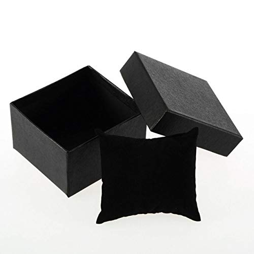 ZHS Paper Cardboard Watch Box Case Storage Organizer Wedding Engagement Rings Gift Box Jewelry Display 83x78x52mm