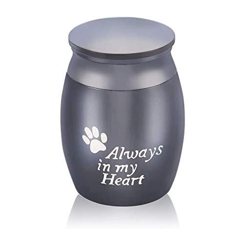 Kleine Urn Kleine Decoratie Souvenir Mini Crematie Tank Parfum Pot Familie Begrafenis Haar Gedenkteken Roestvrijstalen Aspot Zwart,Always in my heart