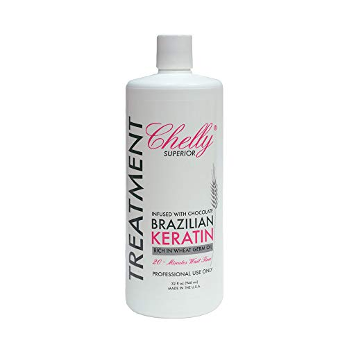 Chelly Superior Infused with Chocolate Brazilian Keratin Treatment 946ml (32 fl oz) | Progressive Brush | Straightening & Smoothing System | Hair Straightening Therapy | 100% Straight Hair | Frizzy Free