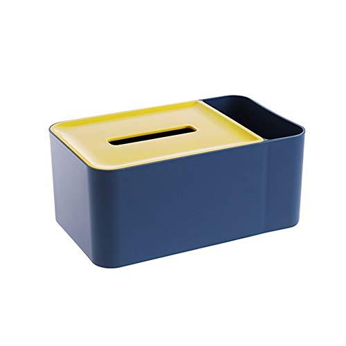 KLYHCHN Control Remoto Cuadro higiénico Almacenamiento Caja de Almacenamiento de Papel servilleta de Papel Estilo nórdico Contraste hogar Caja de pañuelos Multifuncional Sala de Mesa de café (Azul/r