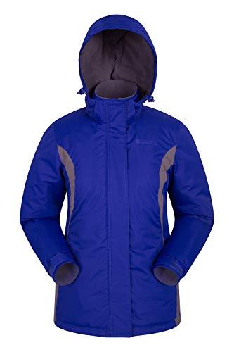 Mountain Warehouse Moon Damen-Skijacke - Schneedicht, Mikrofaser-Isolierung, Winddichte Winterjacke, warm, verstellbare Kapuze - Ski-Bekleidung für den Snowboard-Urlaub Dunkelblau 46