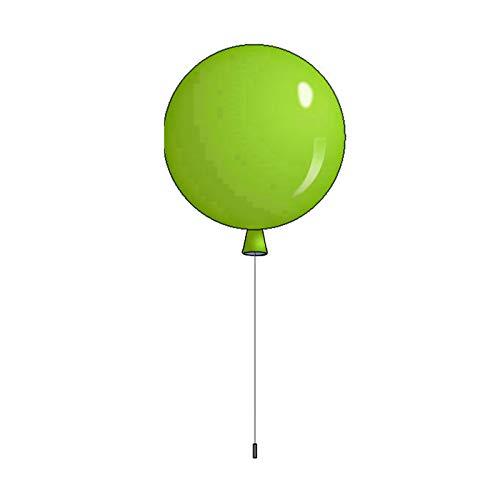 LXHK Ballon Wandleuchte, Wandbeleuchtung Innen Led Bunt, Kinderzimmer Dekorative Wandlampe Modern Design Innen mit Schnurschalter, 3 Farbtemperatur Einstellbar, für Wohnzimmer Schlafzimmer, 5W,G20cm