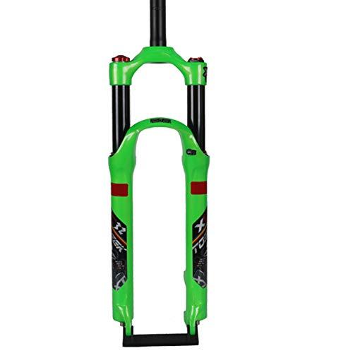 26/27.5 Pulgadas MTB Tenedor Ligero Compacto Horquilla de suspensión Control de Hombro Horquilla Deporte Carrera 120 MM para Bicicleta de montaña o MTB B,27.5inchs
