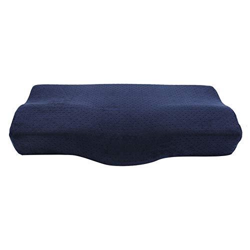 Wimpernverlängerungs-Spezialkissen, Memory Cotton-Kopfstützenkissen mit Schlafnackenstütze(Dunkelblau)