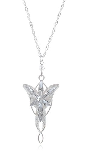 L-Zone The Lord of the Rings Lady Arwen Evenstar Inspired Collectible Plated Pendant with 20-Inch Chain Necklace