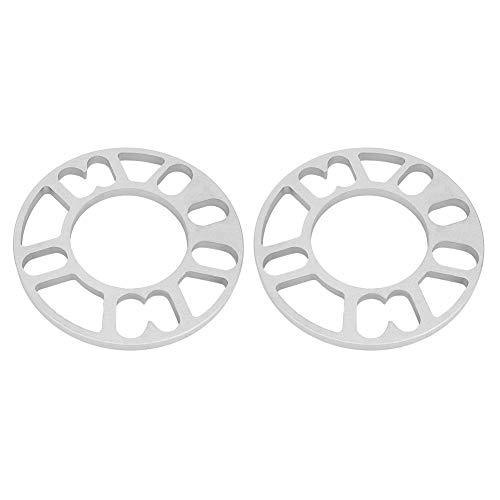 Duokon 2Pcs 10mm Aleación de aluminio Separadores de rueda Cuñas Ajuste universal para rueda de perno 4/5