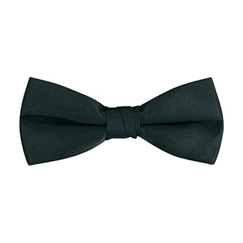 "Gravata borboleta masculina clássica de smoking formal pré-amarrada - S.H Churchill, Hunter, Fits Up to 20"" Neck Size"