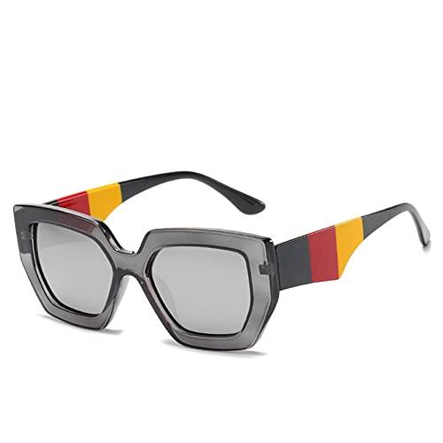 AMFG Gafas de sol de las gafas de sol de las gafas de sol de las gafas de sol de los hombres del marco de las mujeres que viajan el espejo de la conducción del sol (Color : E)