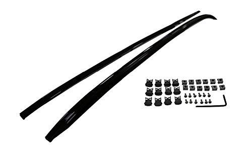 Baca Coche Universal Techos para Mazda CX9 CX-9 2018 2019 2020 2021 Racks Rails Barras Portador de equipaje Barras Top Racks Cajas de riel de aluminio 1 (Color : Black)