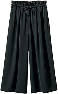 [nissen(ニッセン)] フレアガウチョ パンツ ゆったり ヒップ 大きいサイズ レディース