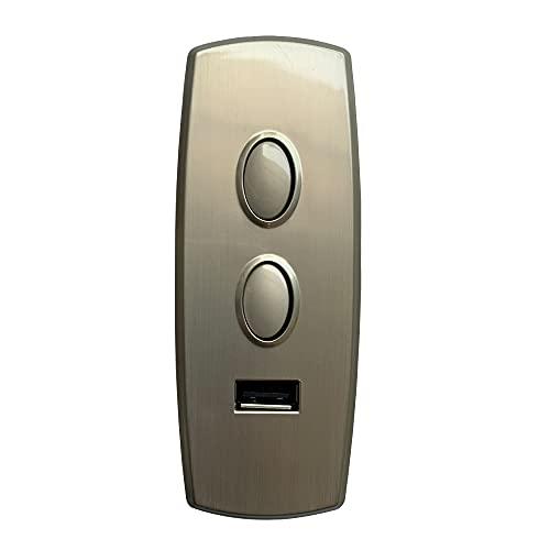BaiDian Controlador de 2 botones y 5 pines con repuestos para silla elevadora reclinable eléctrica USB