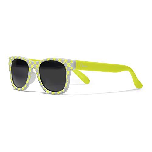 Chicco - Gafas de Sol Infantiles Para Niños De 2 años, Con Montura flexible y Lentes Anti Arañazos, Color Gris y Amarillo Cactus