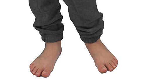 Gennadi Hoppe Kinder Jumpsuit Overall Jogger Trainingsanzug Mädchen Anzug Jungen Onesie,dunkel grau - 4