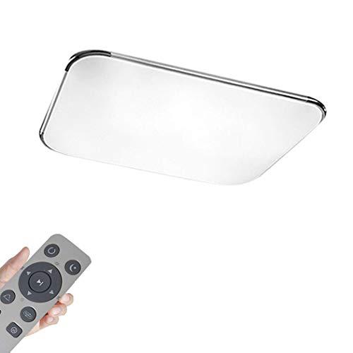 MIWOOHO 64W Modern Dimmbar LED Ultraslim Deckenleuchte Badleuchte Deckenlampe Flurleuchte Silber (3000-6500K)