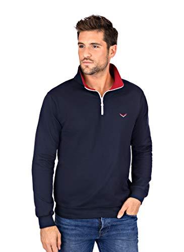 Trigema Herren 674813119 Sweatshirt, Blau (Navy 046), XXX-Large (Herstellergröße: XXXL)