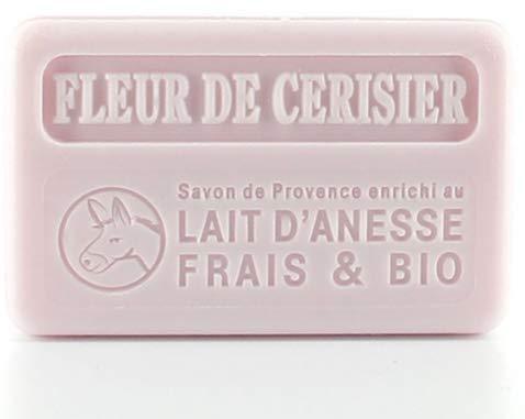 Savon au Lait d'Ânesse frais BIO - Fleur de Cerisier - 100gr
