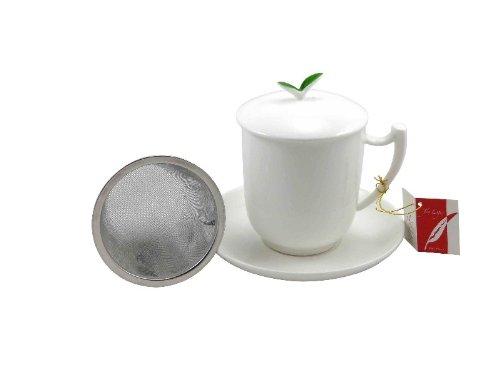 Tea Logic Tealogic Kräutertee Tasse Tea Time Fine Bone China mit Sieb 300ml
