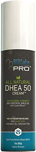 All Natural Bioidentical 50mg Dhea Cream - Two Month Supply - Dehydroepiandrosterone - 3oz