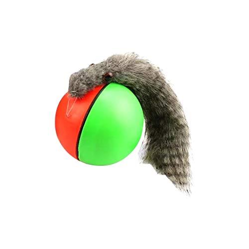 Funny Ball Hundespielzeug Elektrische Wasserdichtes Haustier-Kugel-LED Rollen Mobile Biorhythm Cat Cat Automatische Rollen-Spaß Interactive Spielzeug-Kugel (Style : 1)