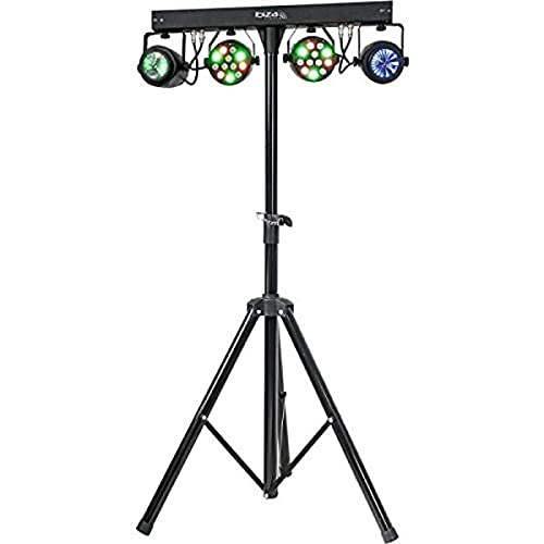 DJLIGHT60 - Ibiza - LICHTSTATIV MIT 2X RGBW PAR STRAHLERN + 2 RGBWA MOON FLOWERS