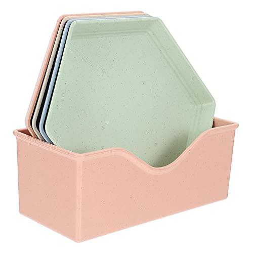 XKMY Platos de condimento, 5 piezas de vajilla de paja de trigo, reutilizables, para el hogar, condimento, soja, plato de sala, bocadillo, suministros de cocina (color: C1 juego de 5 piezas)