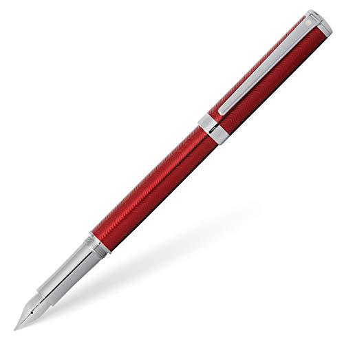 Sheaffer Intensity - Penna stilografica con punta media, colore: Rosso
