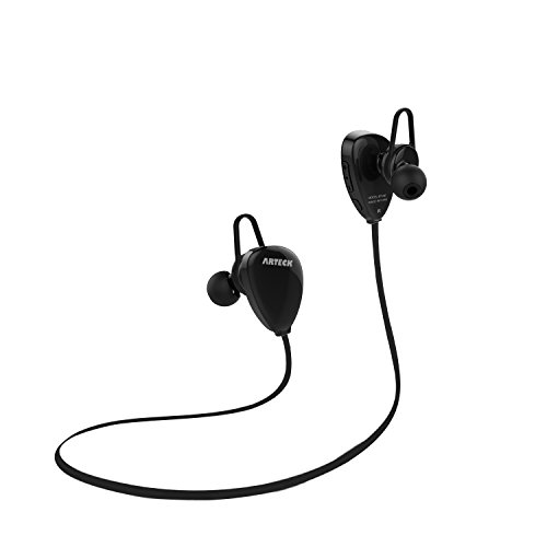Arteck Wireless Bluetooth Headphones for Running Sports Portable Earphones with Rechargeable 15 Hours Playing Battery for iPhone 11, Pro, Xs Max, Xs, Xr, X, 8 Plus, SE, iPod, Android Smart Phone-Black