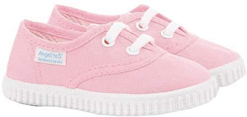 Zapatillas de Lona para Niños y Niñas, Angelitos mod.121, Calzado infantil Made in Spain, Garantia de Calidad. (21, Rosa)