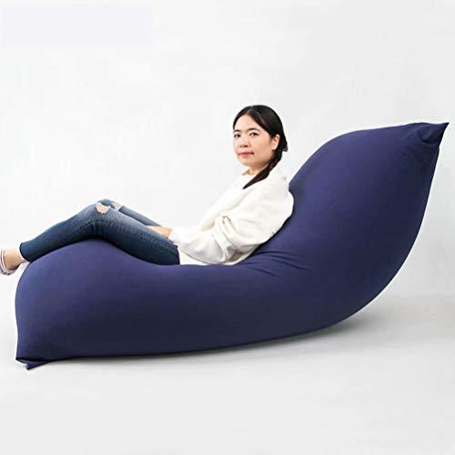 ビーズクッション 特大 人をダメにするソファ 座布団 座椅子 豆袋 なまけ者ソファー カバー 洗濯可能 120*65cm (ブルー)