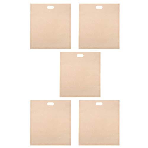 Germerse 5 Bolsas Reutilizables antiadherentes fáciles de Limpiar para Pan Saludable para Pan casero, Bolsas de Pan Multiusos Grandes, para Horno o en una Parrilla, tostadora, microondas