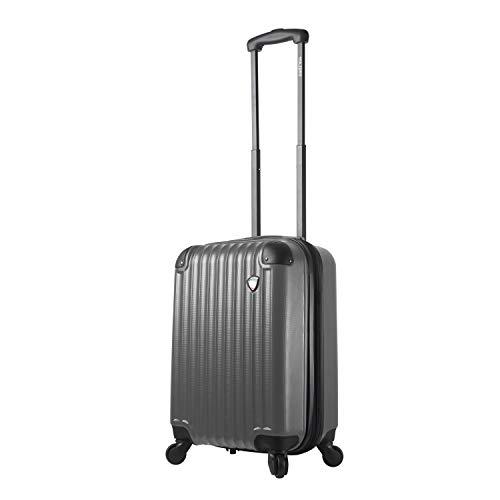Mia Toro Italy Rotolo Hardside Spinner Carry-on, Silver, One Size