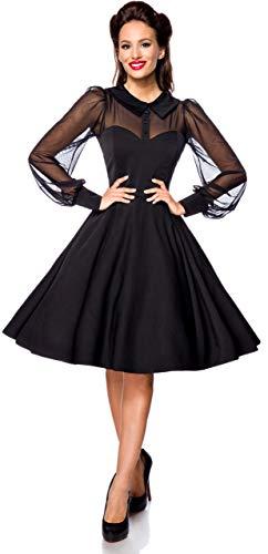 Belsira Lacedress Mittellanges Kleid schwarz XL