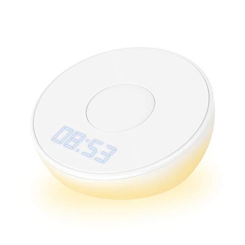 Xlayer Ladegerät Wireless Charging Clock Light 10W, Induktions-Ladestation mit Zeitdisplay für induktionsfähiges Smartphone und Tablet, Wireless Charger Uhr, kabellose Ladestation, Weiß