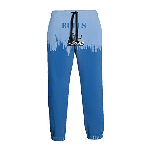AKQJO Buffalo B-u-l-ls Unisex-Adult Men/Women Drawstring Sweatpants Sport Baggy Trousers Medium Sport