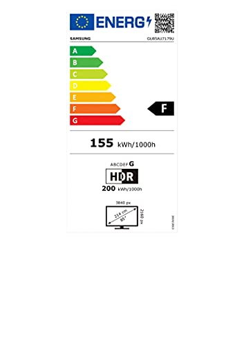Samsung Crystal UHD 4K TV 85 Zoll (GU85AU7179UXZG), HDR, Q-Symphony, Boundless screen [2021]