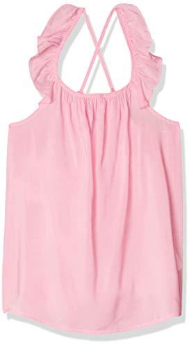 LOB Blusa Niña Tirantes Cruzados con Olan Color Rosa Claro