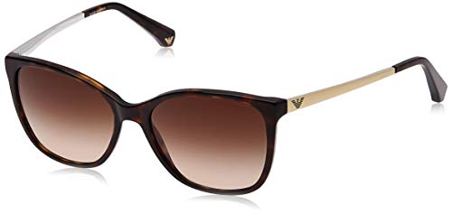 Emporio Armani Unisex Sonnenbrille, Mehrfarbig (Dark Havana 502613), Medium (Herstellergröße: 55)