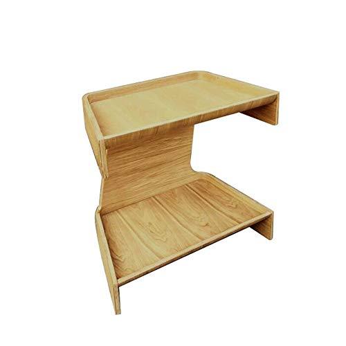 Jcnfa-bijzettafel U-vormige bijzettafel gratis staande salontafel houten kleur moderne eenvoud woonkamer slaapkamer bijzettafel