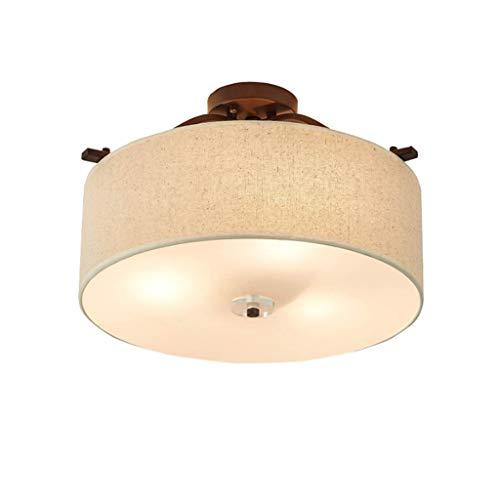 YANQING Duurzame plafondlampen Nordic Eenvoudige LED Plafond Licht, Ronde Doek Licht Schaduw Decoratieve Lichten, Slaapkamer Studie Kamer Plafond Lamp (E27) Plafond Lichten