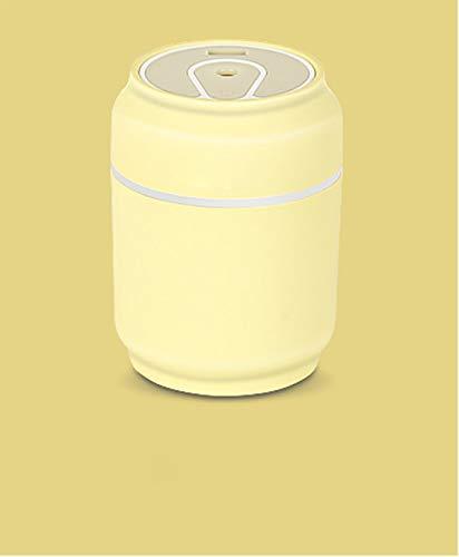Zhanmusi Luchtbevochtiger Verstelbare Mist Mode Stille werking waterloze Auto Off for Huis (Color : Yellow)