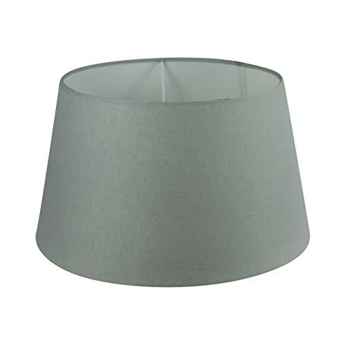 Wogati Premium Lampenschirm 35 cm x 27 cm x 20 cm/Tischleuchte/Stehlampe/Grau/Stoff / E27 / E14