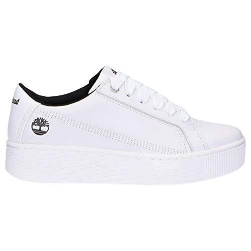 Timberland Donna - Sneakers Marblesea in Pelle Pieno Fiore Bianca - Numero 37