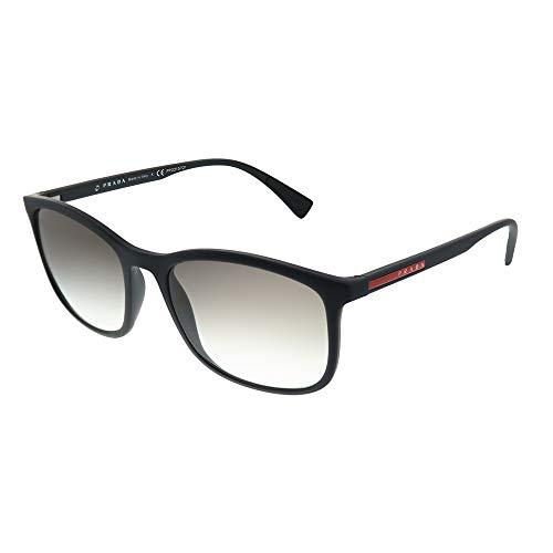 Prada SPORT Herren 0PS01TS DG00A7 56 Sonnenbrille, Schwarz (Black Rubber/Greygradient)