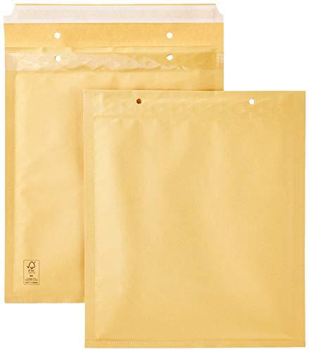 AmazonBasics - Luftpolstertaschen, 220x265 mm, Braun, 50 Stück