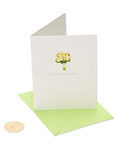 Papyrus Sympathy Card (Lillies)