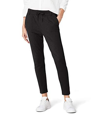 ONLY Damen onlPOPTRASH EASY COLOUR PANT PNT NOOS Hose, Grau (Dark Grey Melange), 38/L30 (Herstellergröße: M)